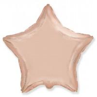 Звезда фольгированная розовое золото