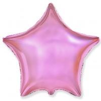 Звезда фольгированная розовый металлик
