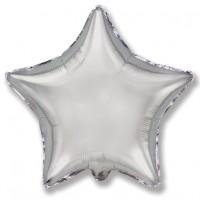 Звезда фольгированная серебряная