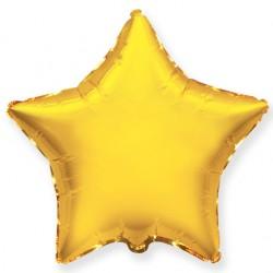Звезда фольгированная золотая