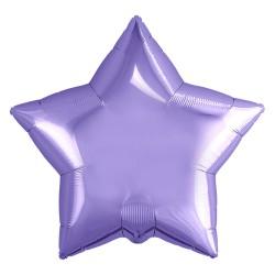 Звезда фольгированная сиреневая