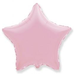 Звезда фольгированная розовая