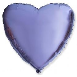 Сиреневое фольгированное сердце