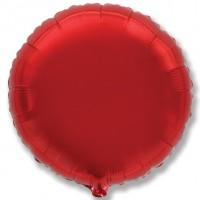Круг фольгированный красный