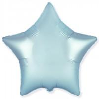 Звезда фольгированная голубой металлик