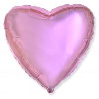 Розовый металлик фольгированное сердце