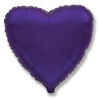 Фиолетовое фольгированное сердце