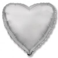 Серебряное фольгированное сердце