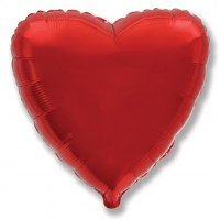 Красное фольгированное сердце
