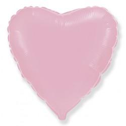 Розовое фольгированное сердце