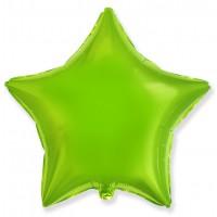Звезда фольгированная салатовая