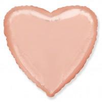 Фольгированное сердце цвета розовое золото