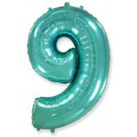 Цифра 9 морская волна