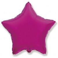Звезда фольгированная фуксия
