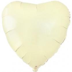 Айвори фольгированное сердце
