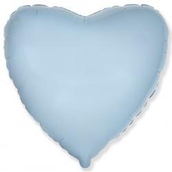 Голубое фольгированное сердце