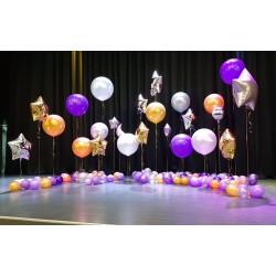 Оформление сцены большими шарами