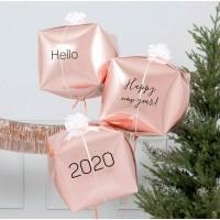 Гелиевые новогодние кубы с гелием