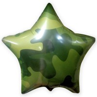 Звезда фольгированная хаки