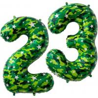 Гелиевые цифры 23 День Защитника Отечества