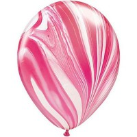 Шар бело-розовый агат