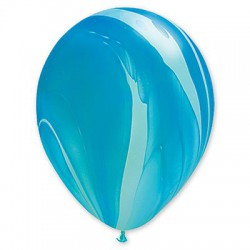 Шар сине-голубой агат