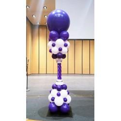 Стойка бело-фиолетовая с большим шаром