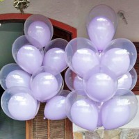 Фонтаны из 20 сиреневых стандартных шаров даблстафф