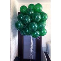 Связка из 20 зеленых шаров хаки