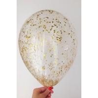 Стандартный шар с золотым конфетти
