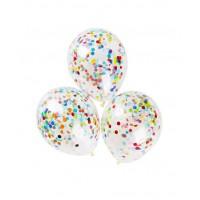 Шары с крупным разноцветным конфетти