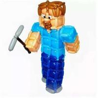 Большая фигурка человечка из шаров в стиле Пиксели