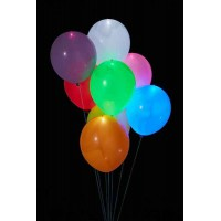 Светящиеся разноцветные шары