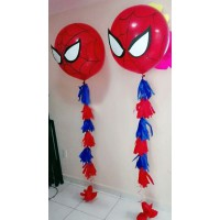 Большой шар Человек-паук на гирлянде тассел