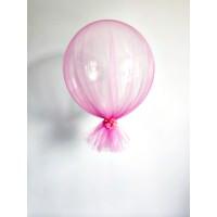 Гелиевый шар в розовом фатине
