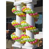 Гирлянда для оформления колонн четырехцветная