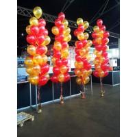 Фонтаны из 27 шаров с красно-золотыми стандартными шарами