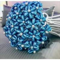 Букет из хромовых шаров с сини