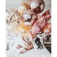 Связка из шаров, шаров с конфетти, фольгированных звезд и сфер