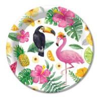 Тарелки в гавайской тематике