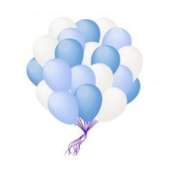 Облако шаров белых и голубых