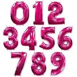 Ярко-розовые цифры