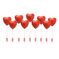 Высота может быть любой, так же, как и цвет сердец. Цена указана за одно сердце.