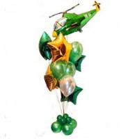 Фонтан из шаров с вертолетом
