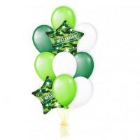 Фонтан из шаров на 23 февраля