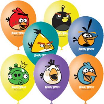 Гелиевые шары с рисунком Angry birds