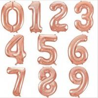 Цифры розовое золото