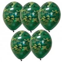 Гелиевые шарики камуфляжной расцветки