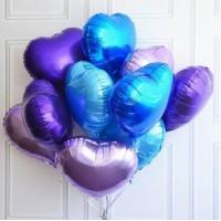Сине-фиолетовые сердца