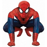 Ходячий фольгированный шар Человек-паук. Рамер - 91 см.
